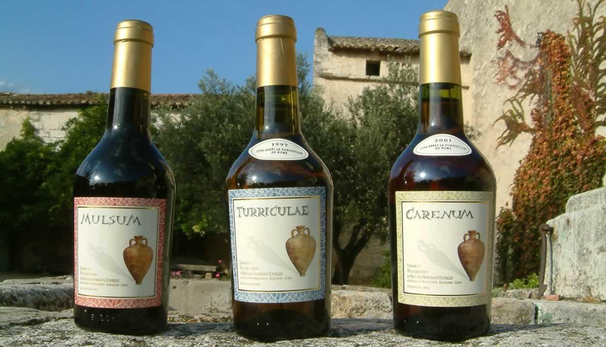 Roman wines ©Domaine Le Mas des Tourelles