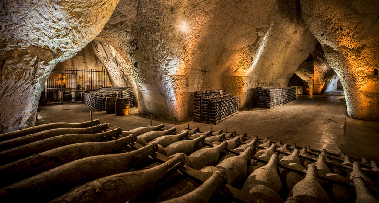 Visite des caves Veuve Clicquot