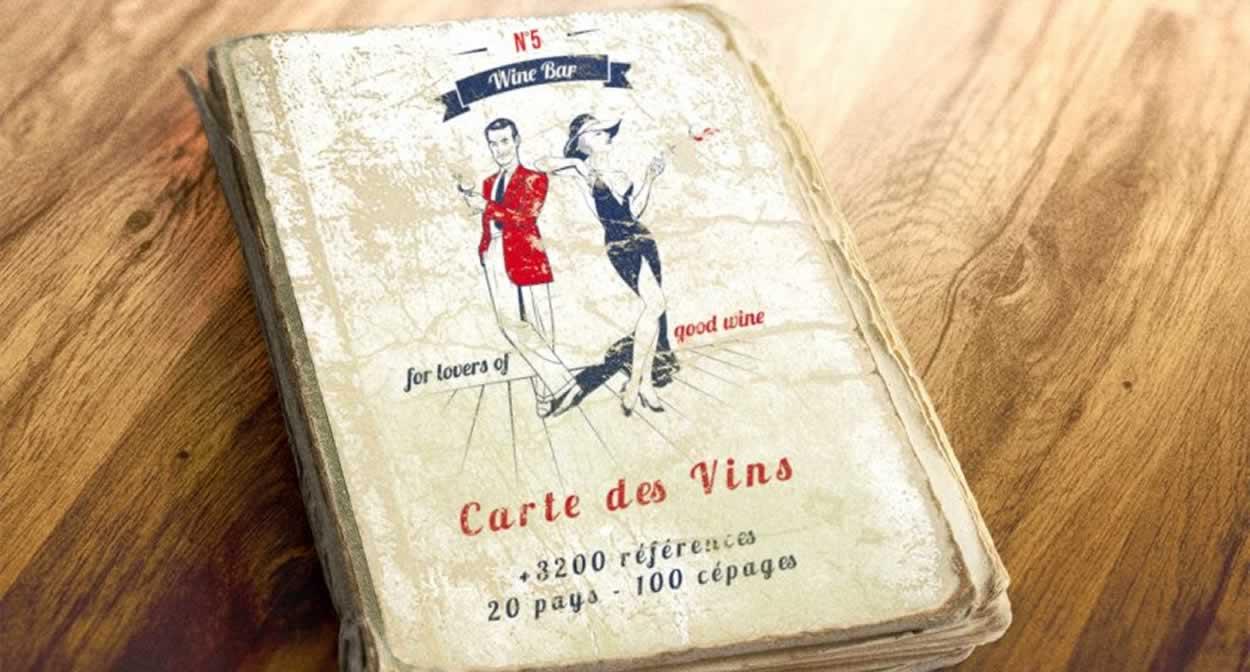 Une carte des vins incroyable © N°5 Wine Bar
