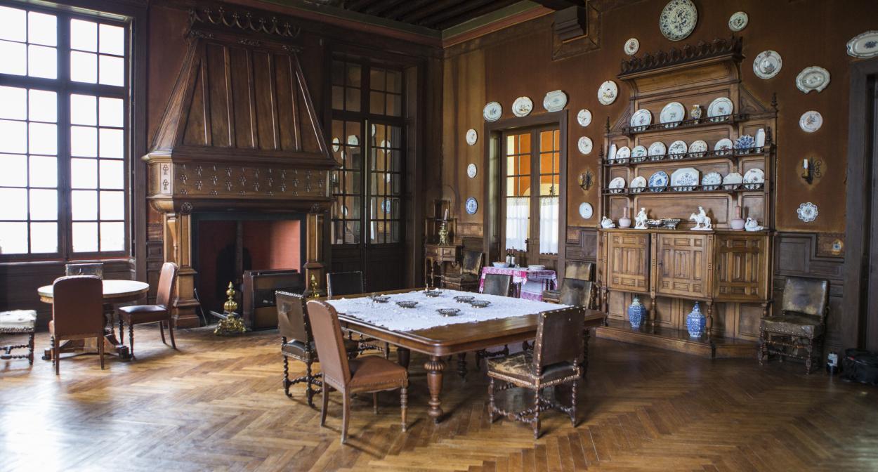 Château_Michel_Montaigne_dining_room ©Château Michel de Montaigne