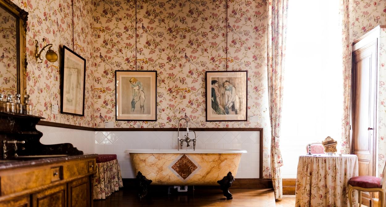 Les anciens appartements de Toulouse-Lautrec au Château Malromé © Pierre-Yves Queignec