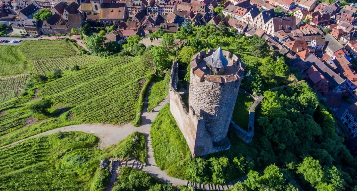 Le château du Schlossberg à Kaysersberg © VUANO-ConseilVinsAlsace