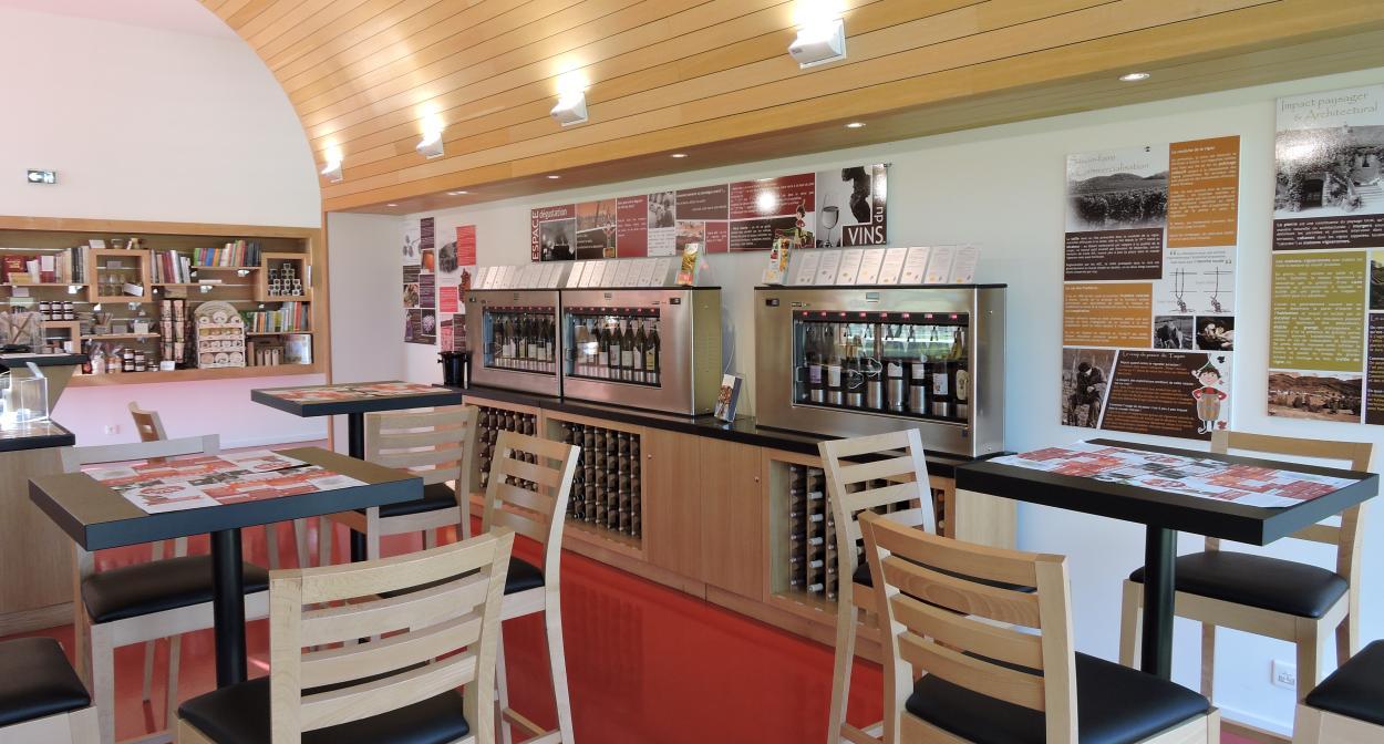 La Caborde, Jura, espace de dégustation ©LaCaborde