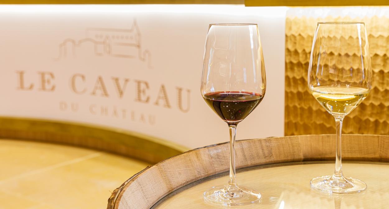 Le caveau de dégustation de la Maison Guigal © Chalaye photographie pour Le Caveau du Château