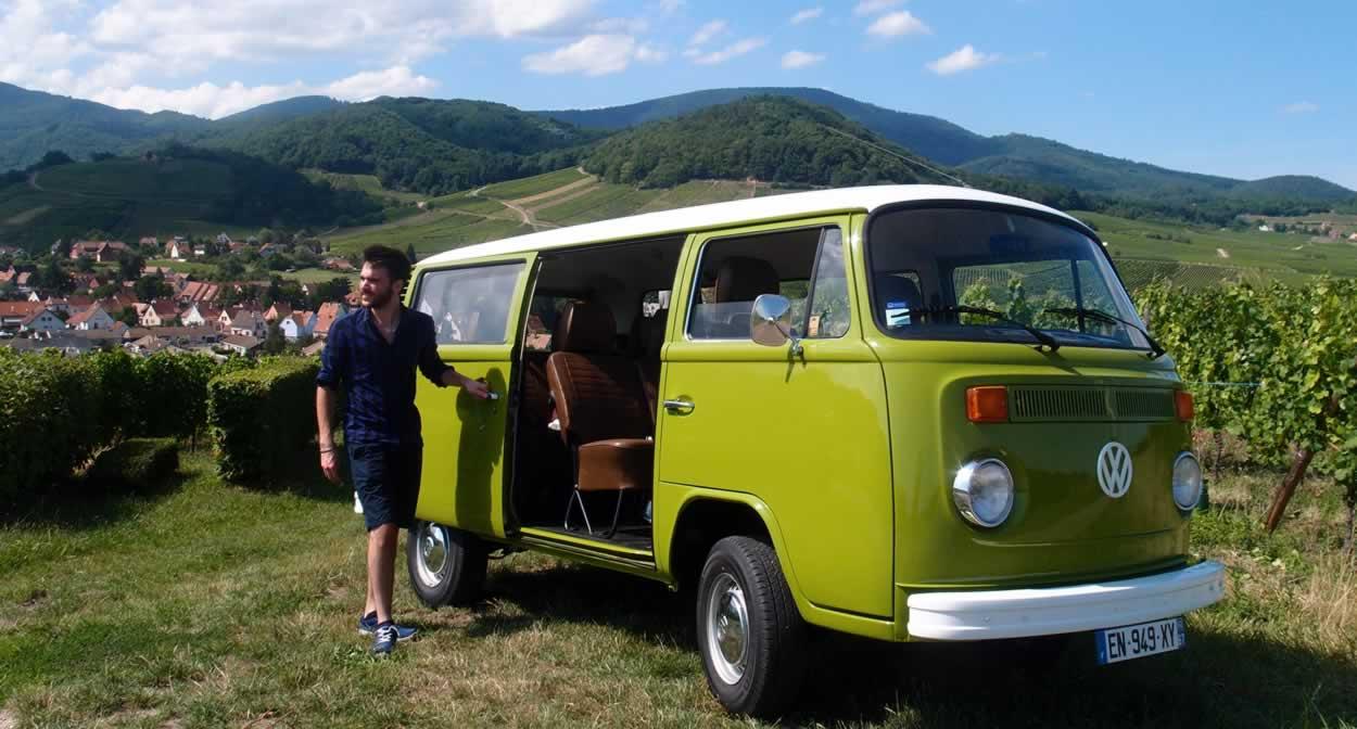 Paul and his camper van @ Vino Varlot