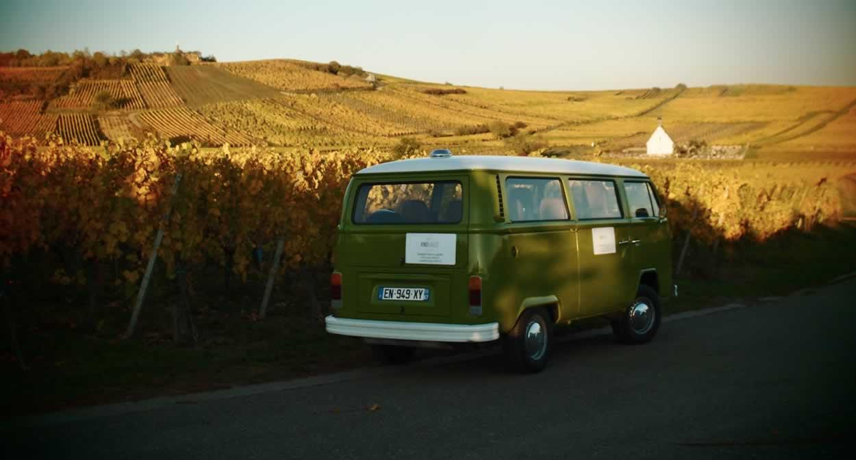 Take a trip through the vineyards in a camper van @ Vino Varlot