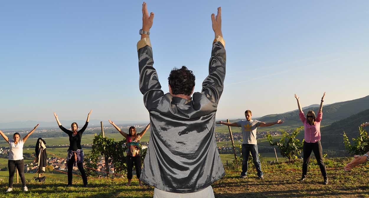 Qi Gong in the vineyards of Alsace