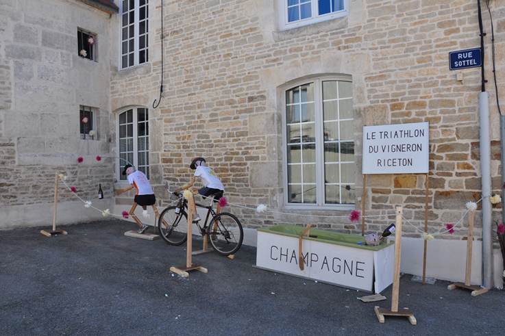 The champagne celebration route animations ©MB Sautel