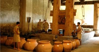 Mas des Tourelles – Roman wine cellar ©Domaine Le Mas des Tourelles
