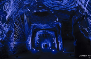 Oeuvre julien salaud dans les caves troglodytiques ©Ackerman