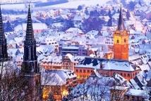Obernai sous la neige ©Office de Toursime dObernai
