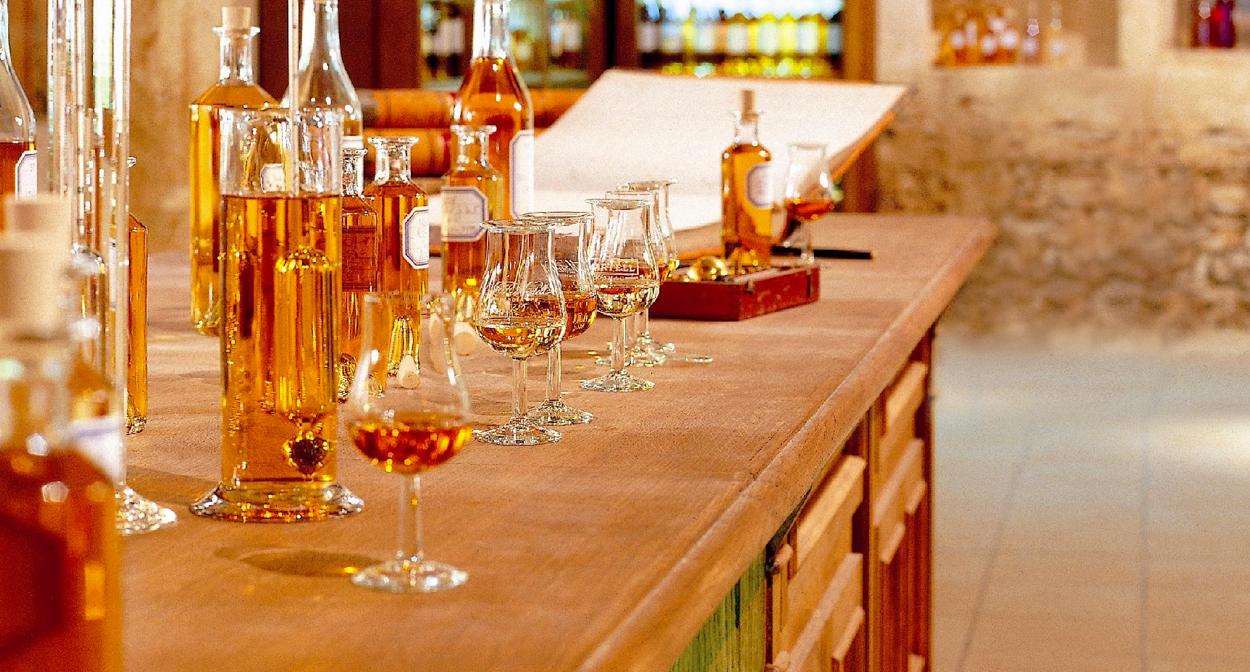 Tasting of Martell cognac