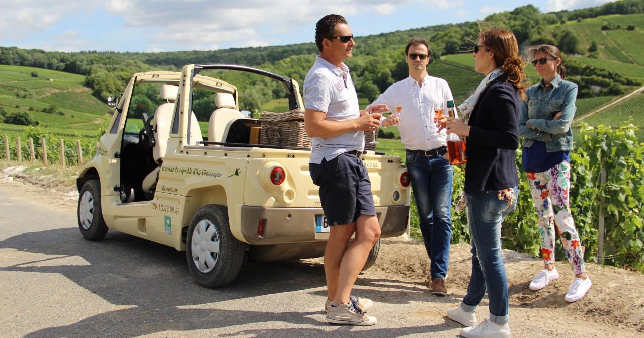 Œnotourisme au coeur du vignoble de Champagne ©ADT Marne